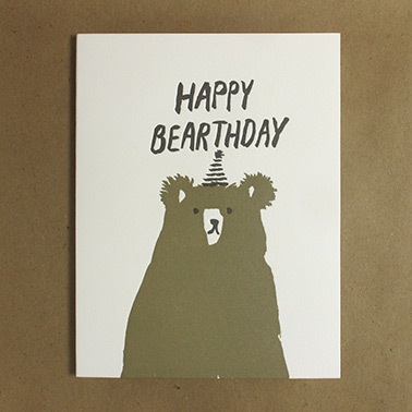 Happy Bearthday Day Birthday Card
