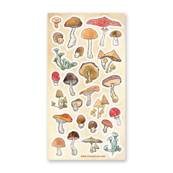 All The Mushrooms Sticker Sheet