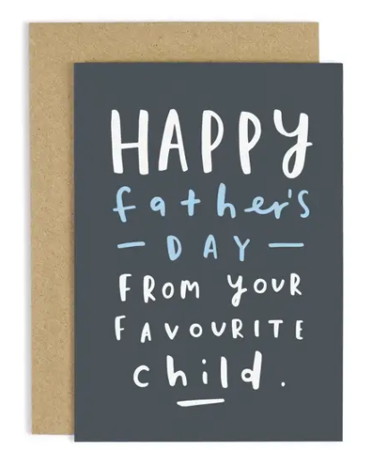 Favourite Child Father's Day Card