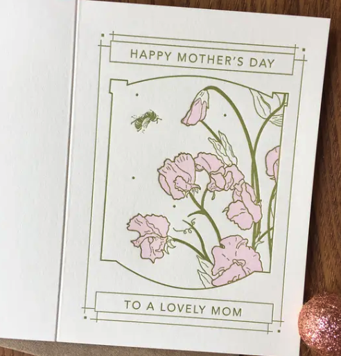 Sweet Peas Mother's Day Card