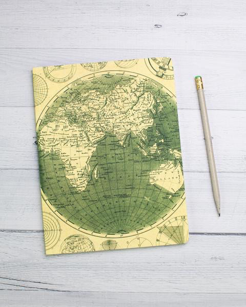 Geographic Map Softcover Notebook