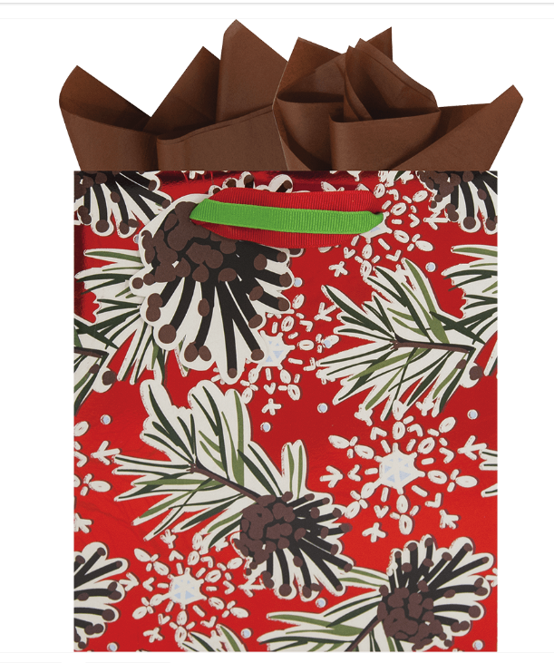 Pinecones and Flakes Small Gift Bag