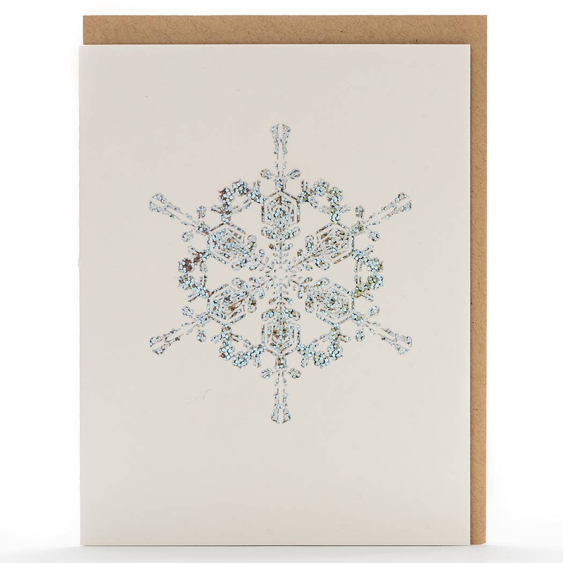 Snowflakes Holographic Foil Card: Box Set of 6 Cards