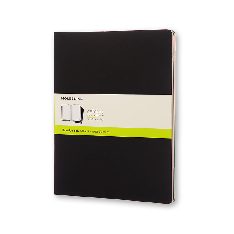 Set of 3 Softcover Blank Journals (Black)