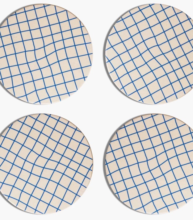 Grid Bamboo Coasters