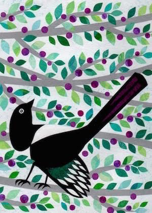 Bird in Branches Card