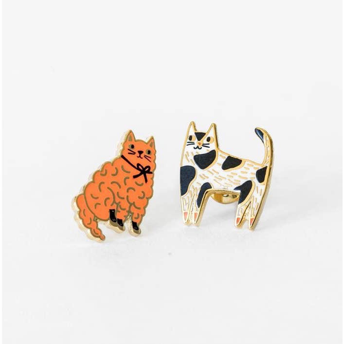 Mis-Matched Cats Earrings