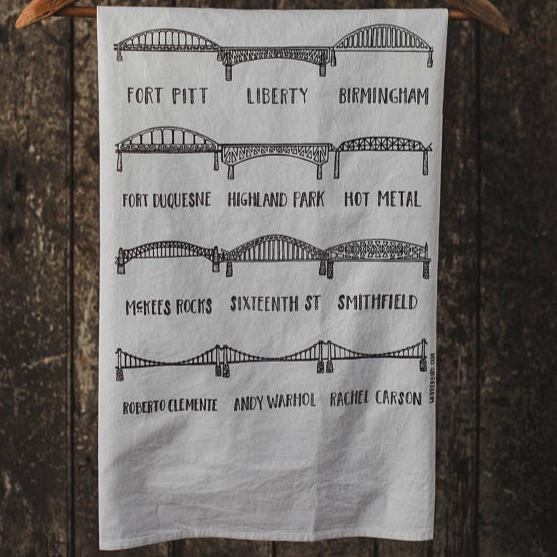 Pittsburgh Bridges Tea Towel