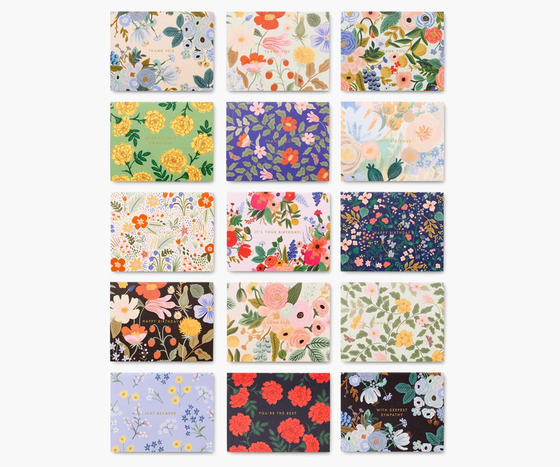 Mixed Florals Essentials Boxed Cards