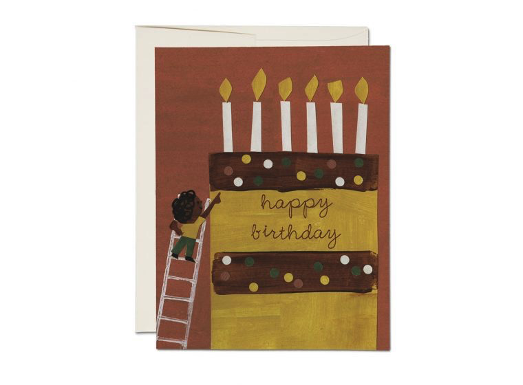 Cake Ladder Birthday Card