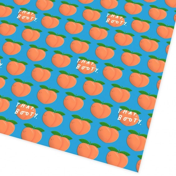 That Peach Booty Wrap Paper Sheet (Pick Up Only)