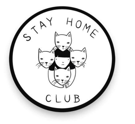 Stay Home Club Vinyl Sticker