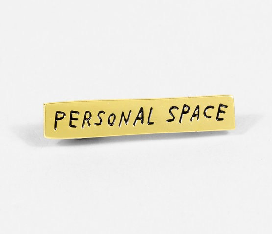Personal Space Lapel Pin