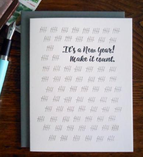 Make It Count New Year Card