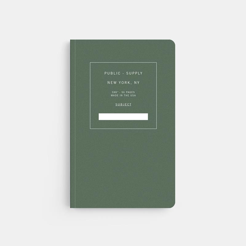 Sooft Cover Notebook: Green Ruled