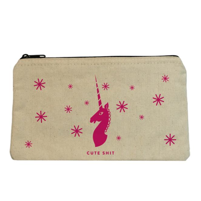 Cute Shit Unicorn Zip Pouch
