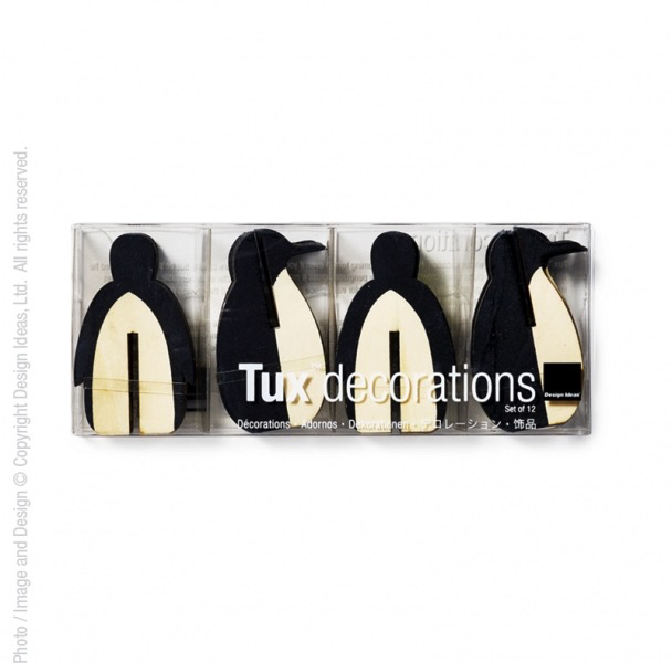 "Tux (Penguin) decoration (small 2.5"", set of 12)"