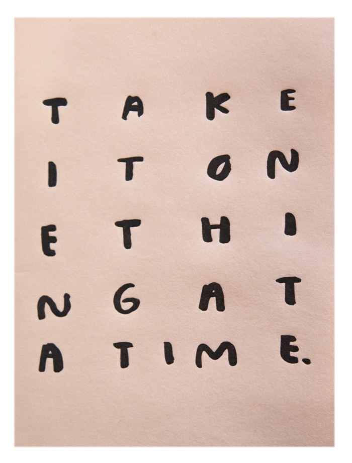 Taking It One Thing At A Time Notebook