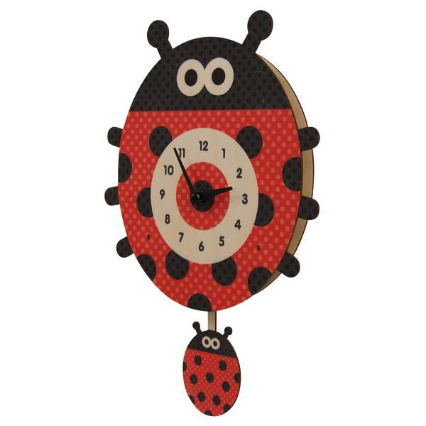 Lady Bug Pendulum Clock