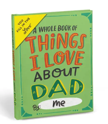 Things I Love About Dad Fill-In Journal
