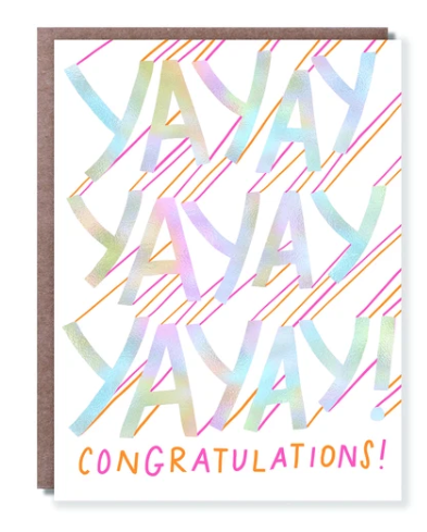 Yay Yay Yay Congratulations Card