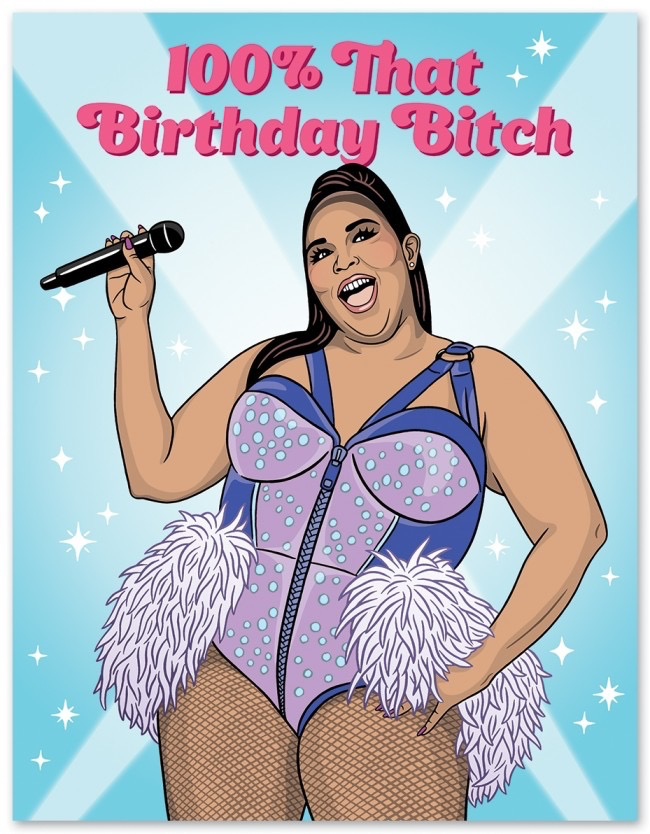 Lizzo Birthday Card