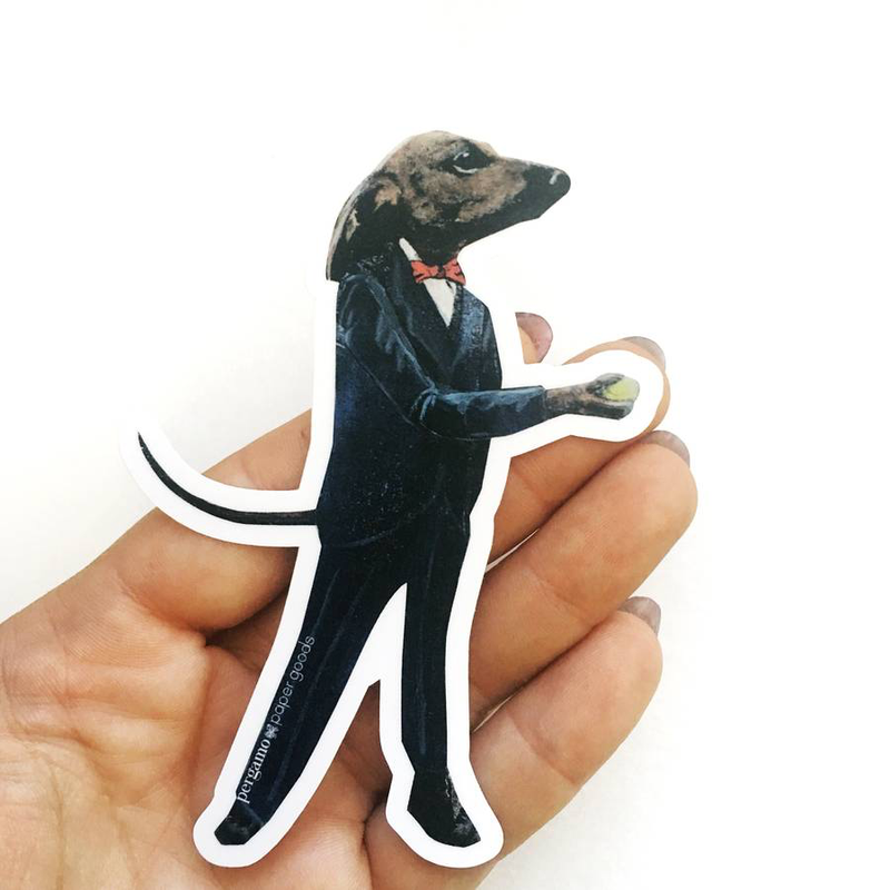 Dapper Dachshund Viny Sticker