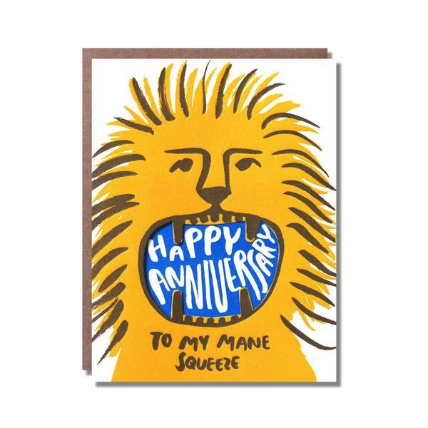 Roaring Anniversary Lion Card