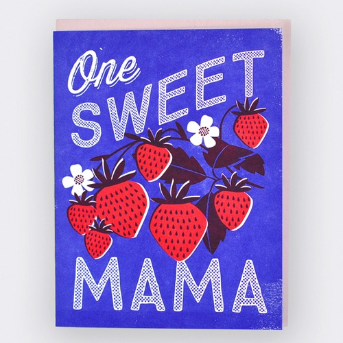 Sweet Strawberries Mother's Day Card
