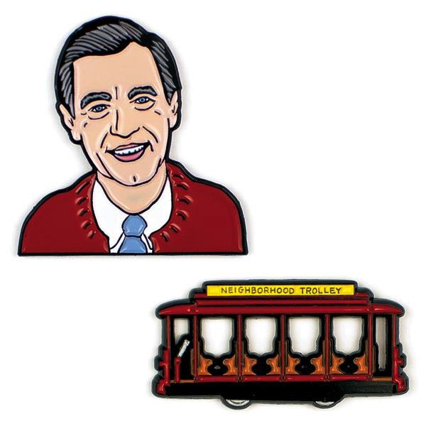 Mister Rogers and Trolley Pin Set