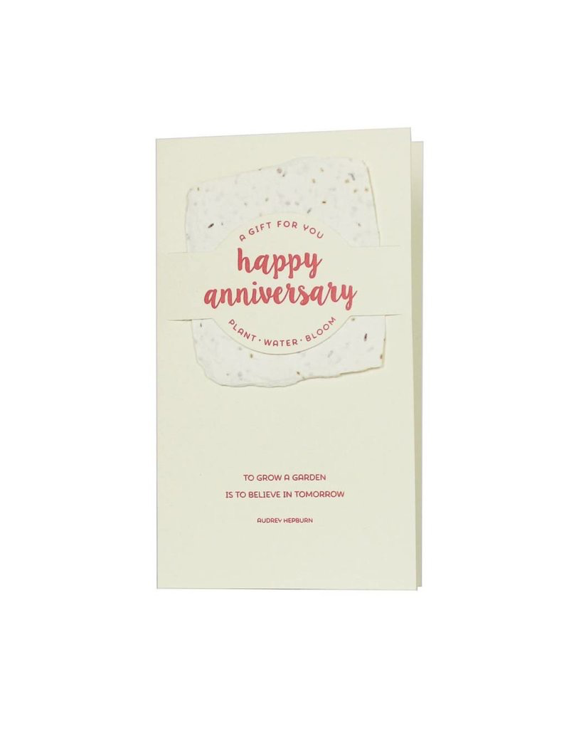 To Grow A Garden Anniversary Card