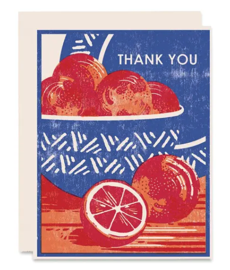 Blood Orange Thank You Card