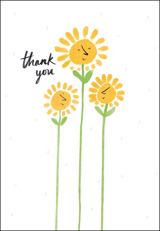 Rays of Sunshine Thank You Card