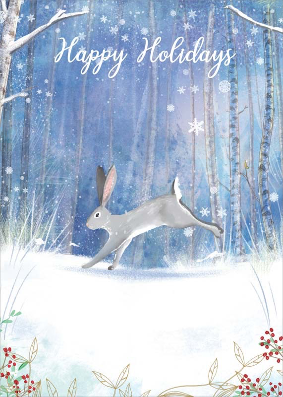 Rabbit - Christmas Card