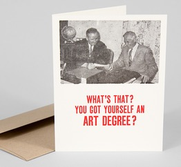 Art Degree? Graduation Card