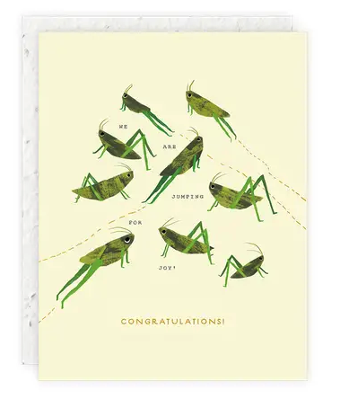 Grasshoppers Congratulations Card