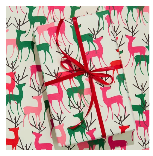 Bright Reindeer Wrap Paper Sheet (pick up only)