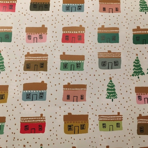 Little Houses Wrap Paper Sheet (pick up only)