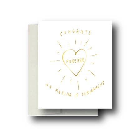 Permanent Love Wedding Card