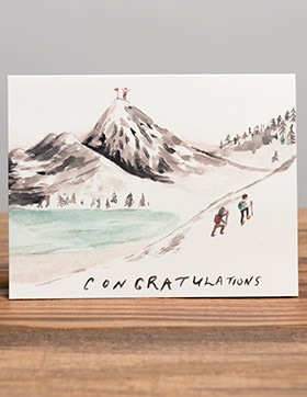 Mountain Top Congratulations Card