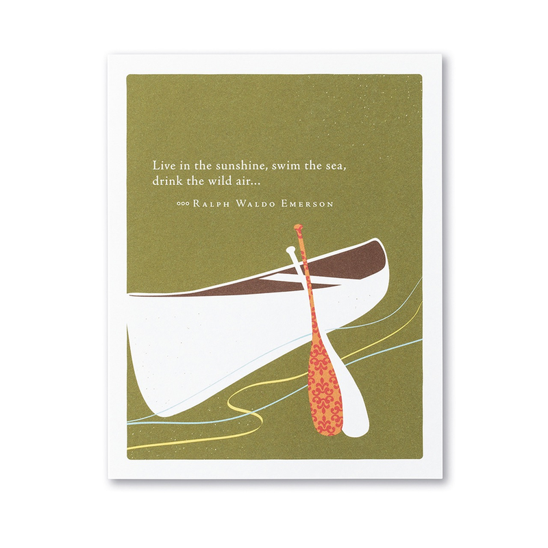 Live in the Sunshine Birthday Card
