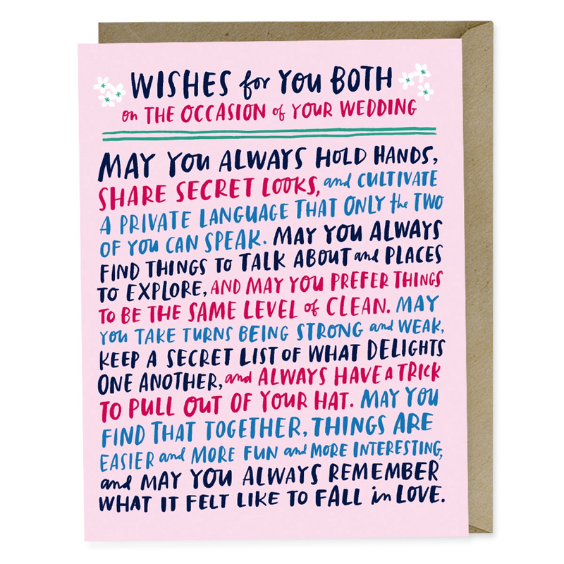 Wishes For You Both Wedding Card