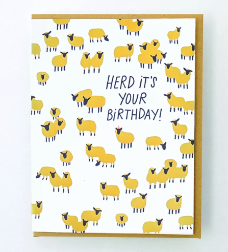Herd It's Your Birthday Card