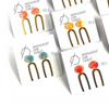 Tortoise Skinny U Dangle Earrings