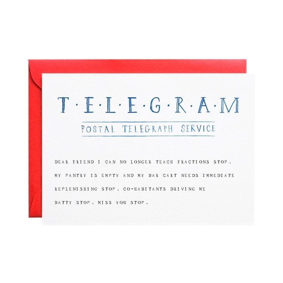 Telegram Stop Card