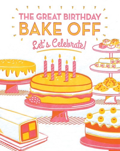 Great Birthday Bake Off Card
