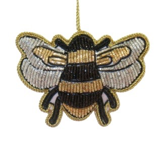 Metallic Bee Ornament