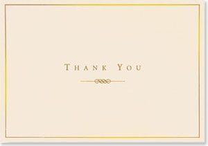 Gold and Cream Thank You Boxed Cards