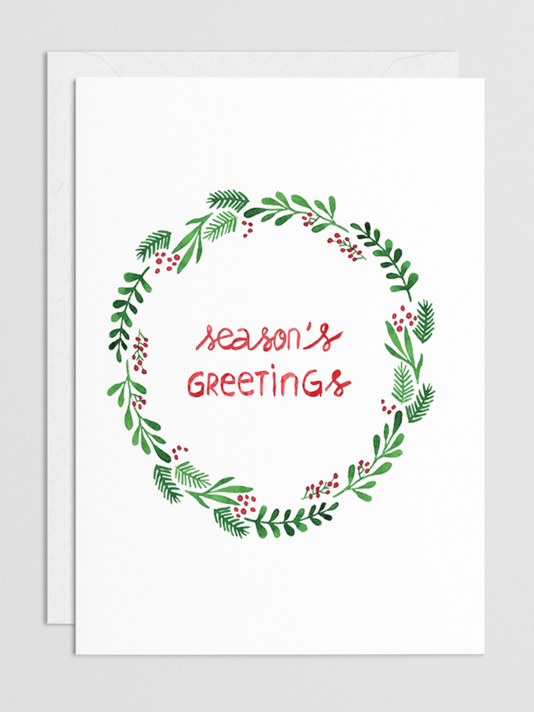 Season's Greetings Wreath Small Card