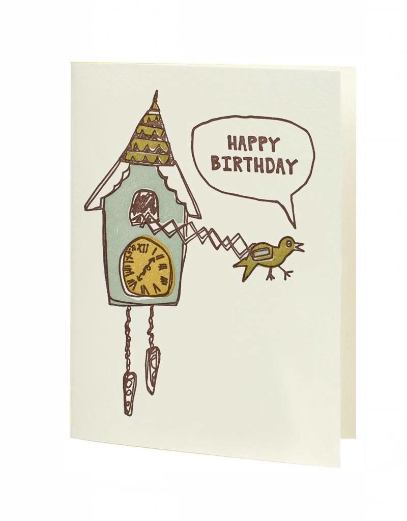 Cuckoo Clock Birthday Card